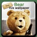 скачать Живые обои с медведем тедди