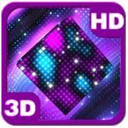 скачать Bright Sparkling Pixel Cube 3D