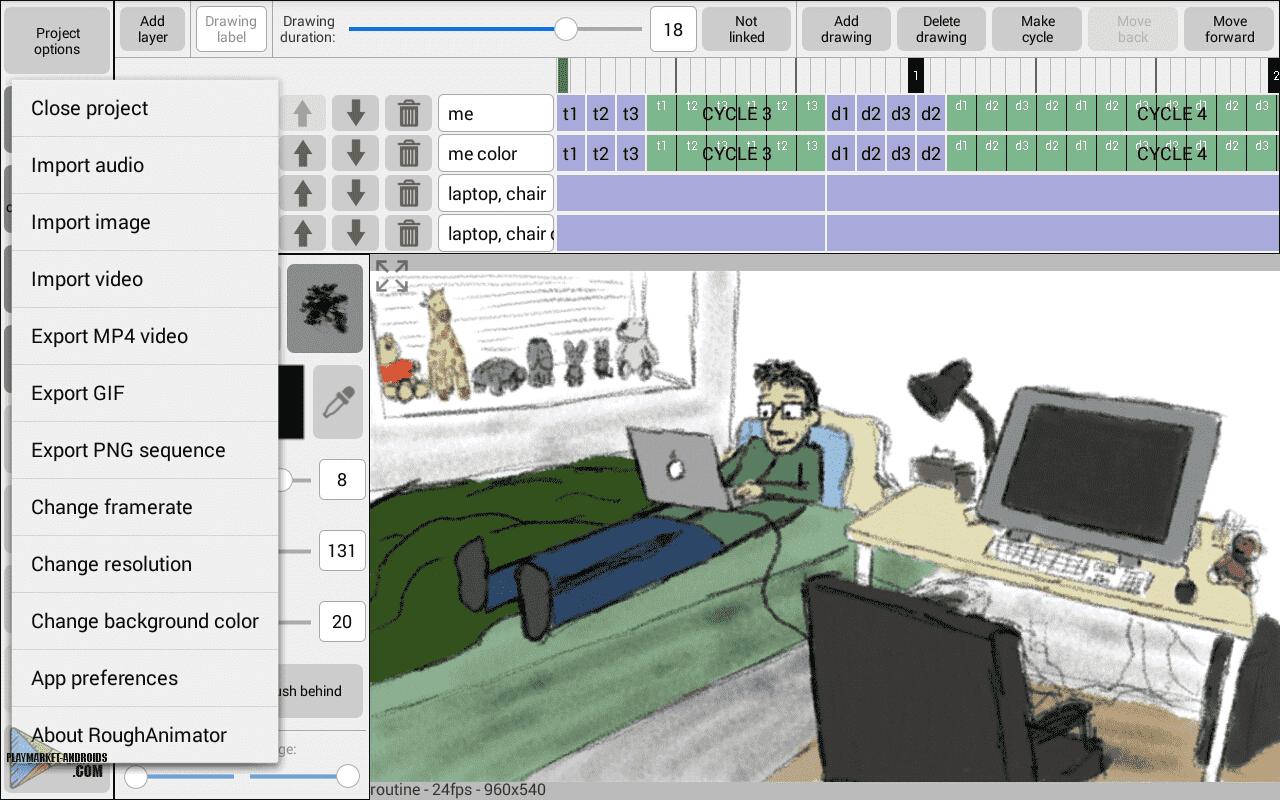 Программа для анимации из фотографий на андроид, сад картинка