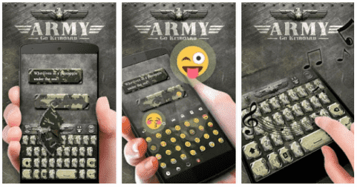 Army GO Keyboard Theme & Emoji