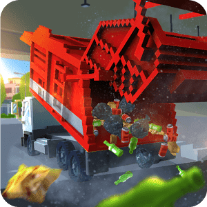 скачать Blocky Garbage Truck SIM