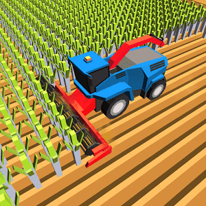 Blocky Plow Farming Harvester