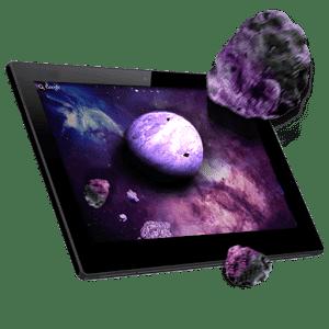 скачать Астероиды 3D живые обои apk