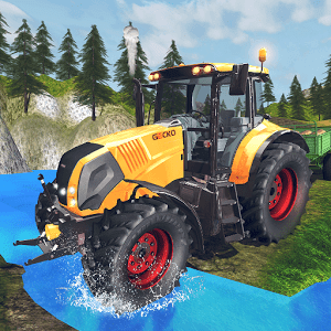 Tractor Driver Cargo 3D