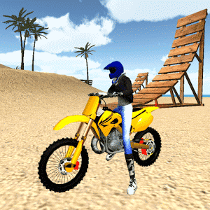 скачать Motocross Beach Jumping 3D