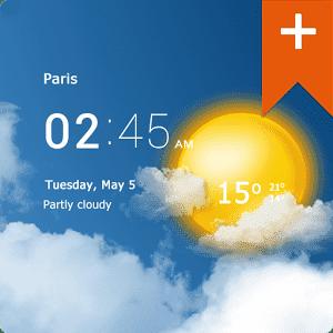 скачать Прозрачные часы и погода Pro