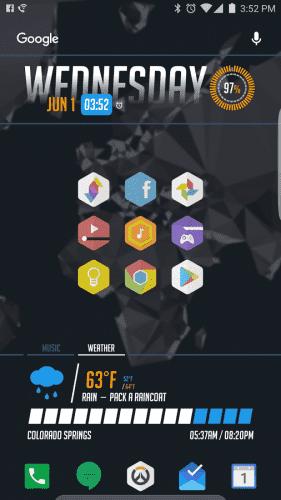 KLWP Preset - Overwatch UI