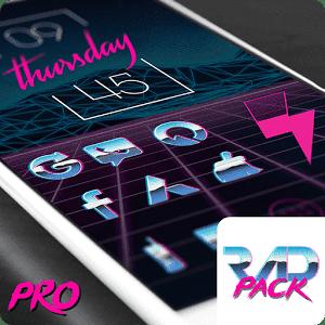 скачать Rad Pack Pro - 80's Theme apk