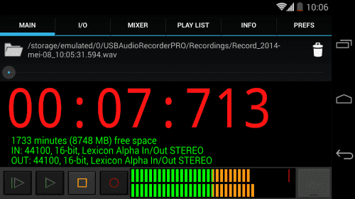 USB Audio Recorder PRO