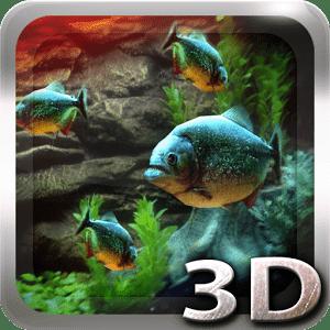 Piranha Aquarium 3D lwp для андроид бесплатно apk
