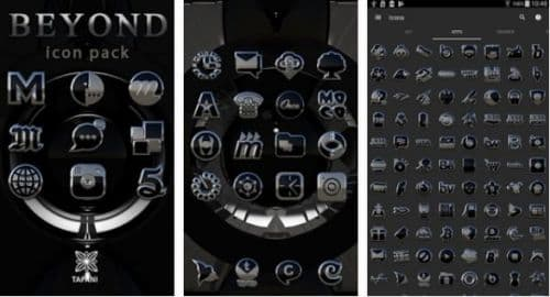 Beyond black platin icon pack HD 3D